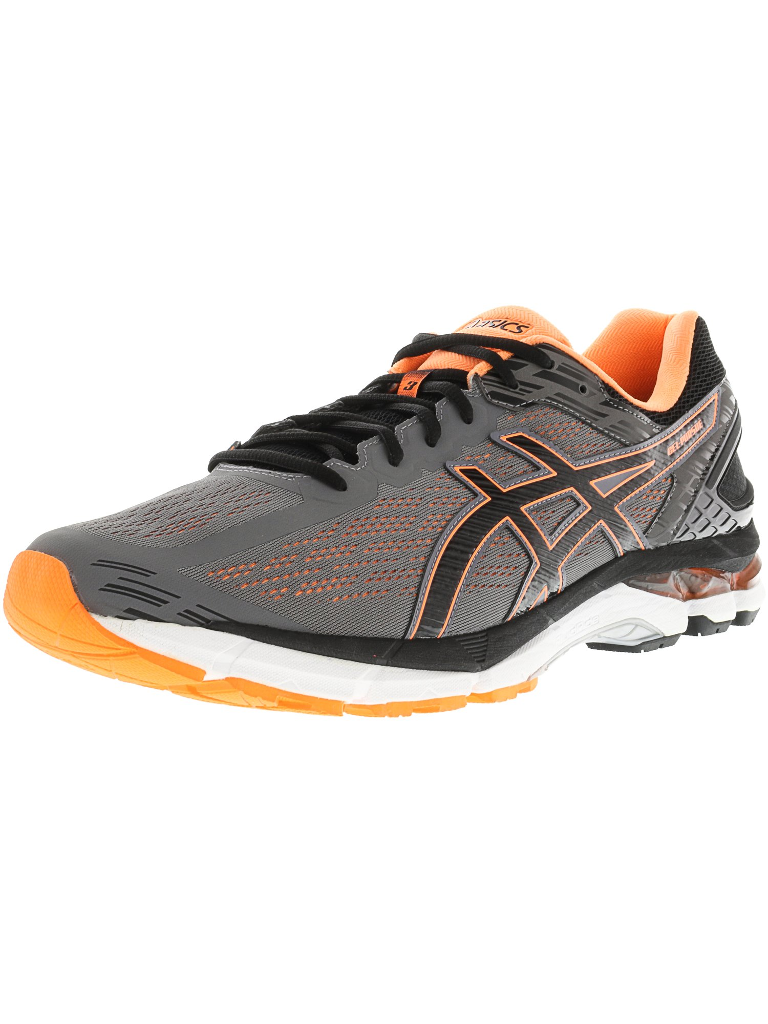 Asics Men's Gel-Pursue 3 Carbon / Black Hot Orange Ankle-High Fabric Running Shoe - 12.5M
