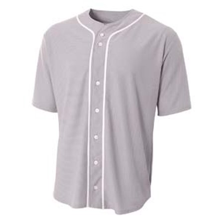 Image of A4 Shorts Sleeve Full Button Baseball Top N4184