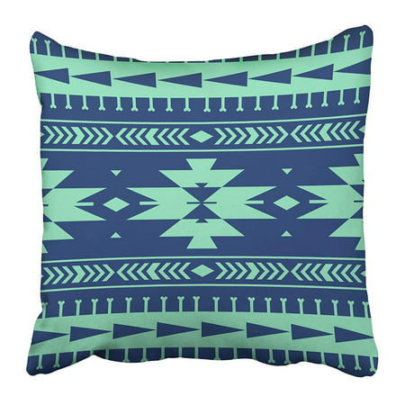 - CMFUN Colorful Aztec Stripes Tribal Border Abstract Boho Drawn Ethnic Fantasy Folk Pillow Case Cushion Cover 16x16 inch