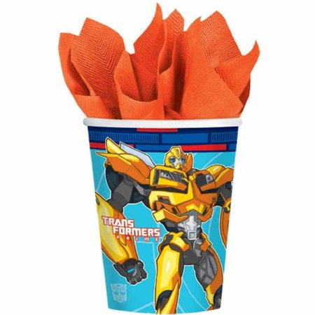 Transformers Prime Animated Cartoon Kids Birthday Party 9 oz. Paper Cups Animated Birthday Party