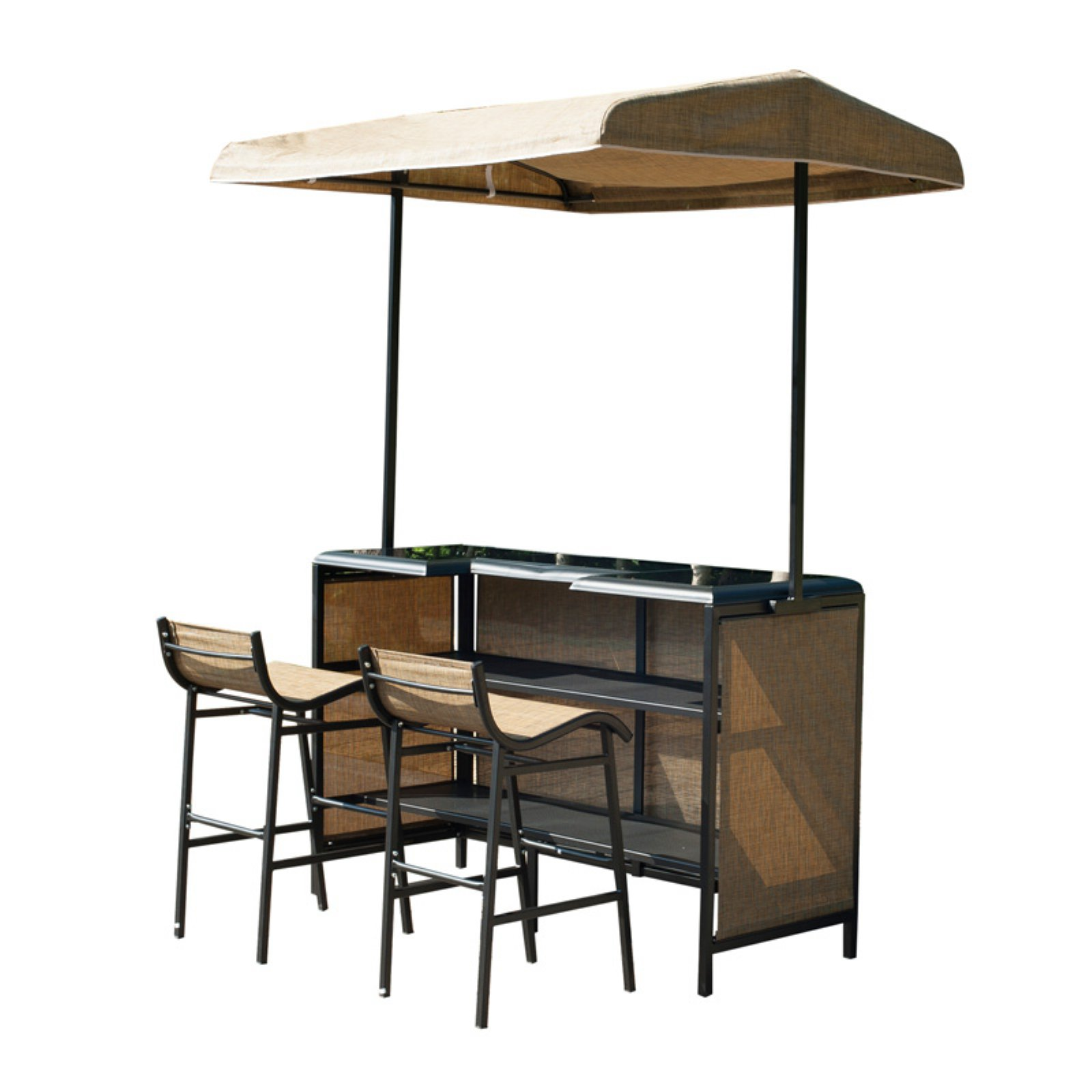 Outsunny Mesh 3 Piece Canopy Bar Set