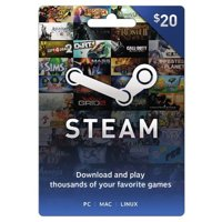 Steam $20 Giftcard, Valve [Physically Shipped Card]