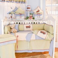 Brandee Danielle Fire Engine Fitted Crib Sheet
