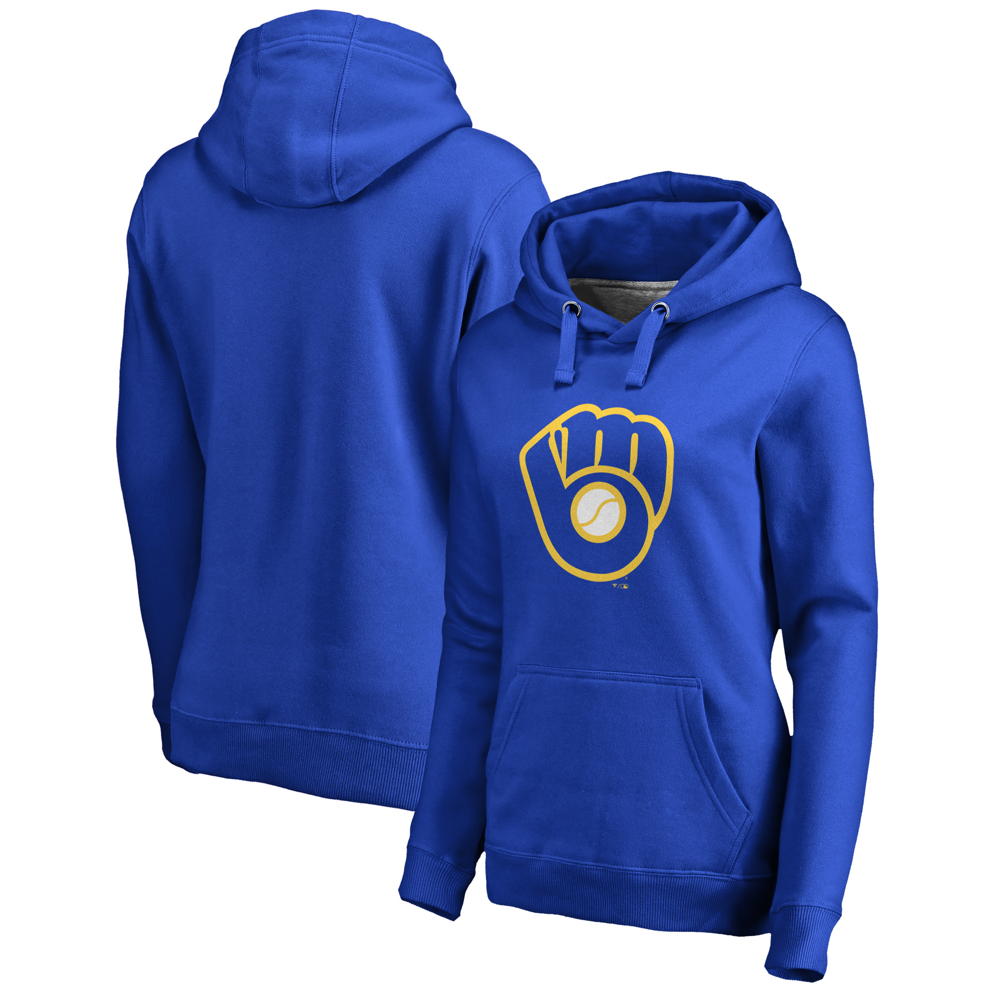 Milwaukee Brewers Fanatics Branded Women's Cooperstown Collection Huntington Pullover Hoodie - Royal