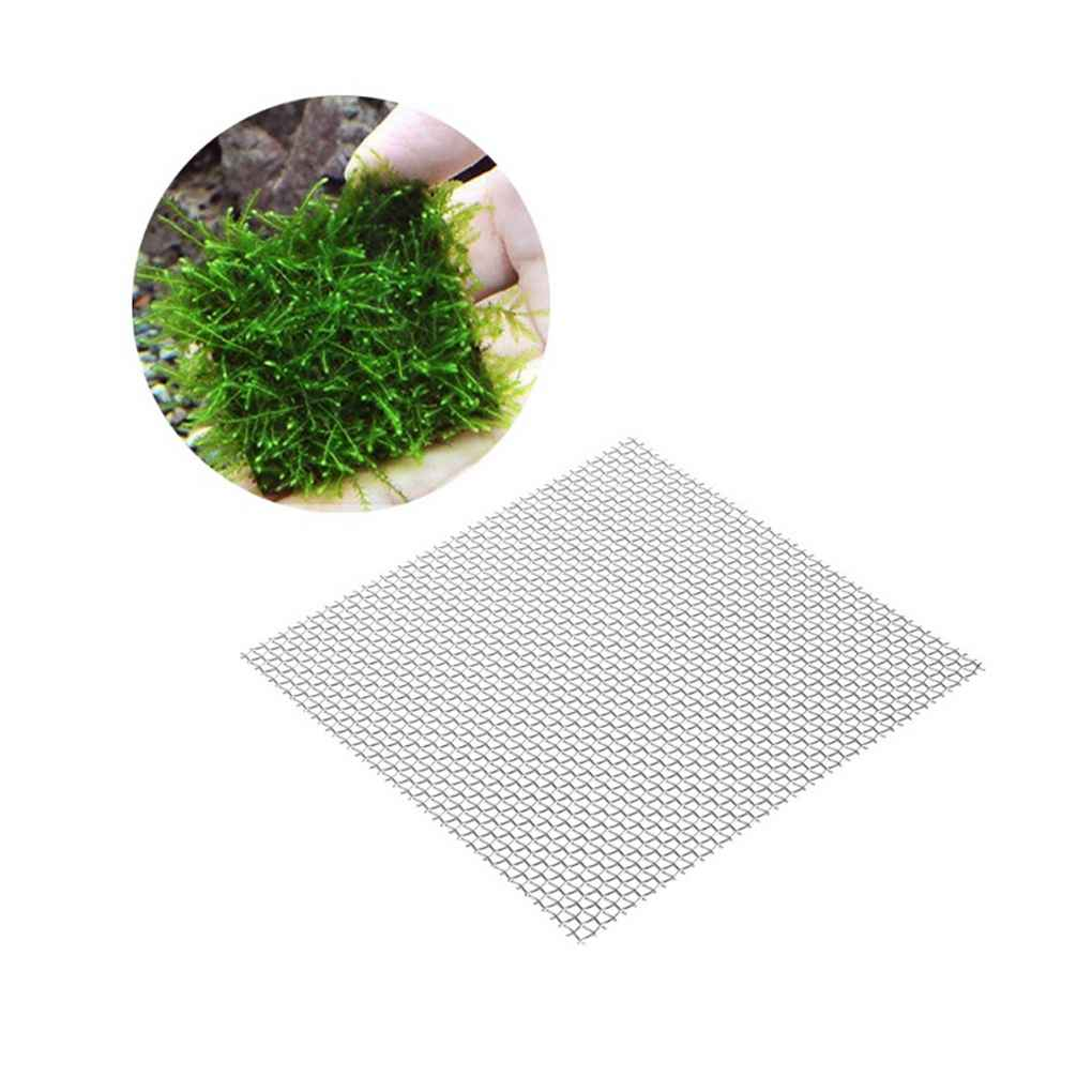 10Pcs Aquarium Stainless Steel Wire Mesh Pad Water Plants Fish Tank Moss Net Mat Decor Aquarium Background by WE00791