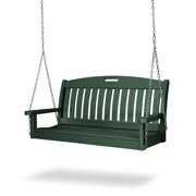 POLYWOOD® Nautical 4 ft. Recycled Plastic Porch Swing - Hunter Green