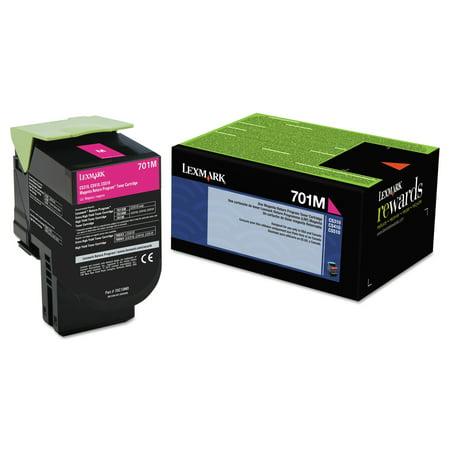 Lexmark 70C10M0 Toner (LEX-701M) 1000 Page-Yield, Magenta