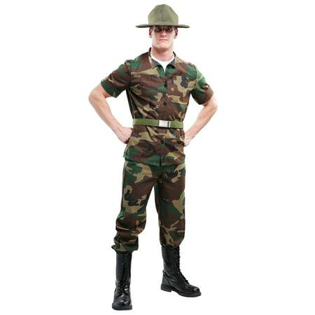 Men's Plus Size Drill Sergeant Costume