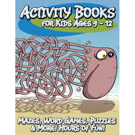 Activity Books for Kids Ages 9 - 12 (Mazes, Word Games, Puzzles & More! Hours of Fun!) - Halloween Maze Game