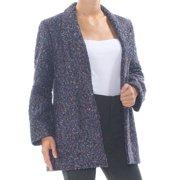 NINE WEST Womens Blue Multicolor Jacket Plus  Size: 2X
