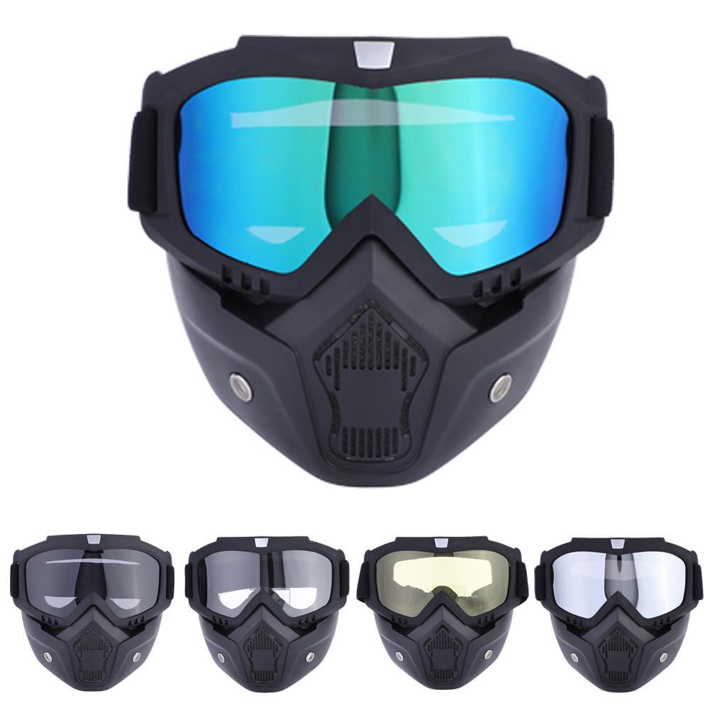 Lv. life 5 Colors Sports Ski Snowboard Cycling Face Mask with Detachable Eye Glasses, Ski Face Mask, Ski Glasses by