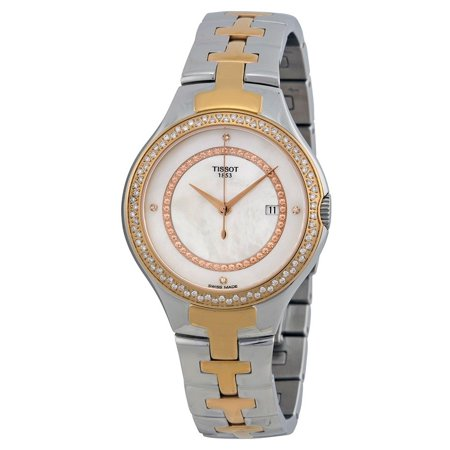 Ladies Mother Of Pearl Dial (T12 Mother of Pearl Dial Diamond Set Two-tone Ladies Watch T0822106211600 )