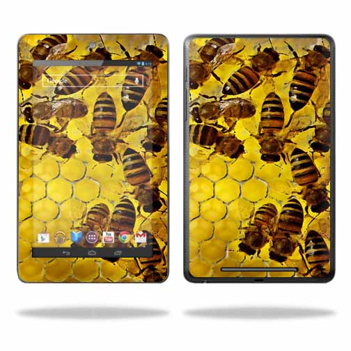"Mightyskins Protective Skin Decal Cover for Asus Google Nexus 7 Tablet with 7"" screen wrap sticker skins Honey"