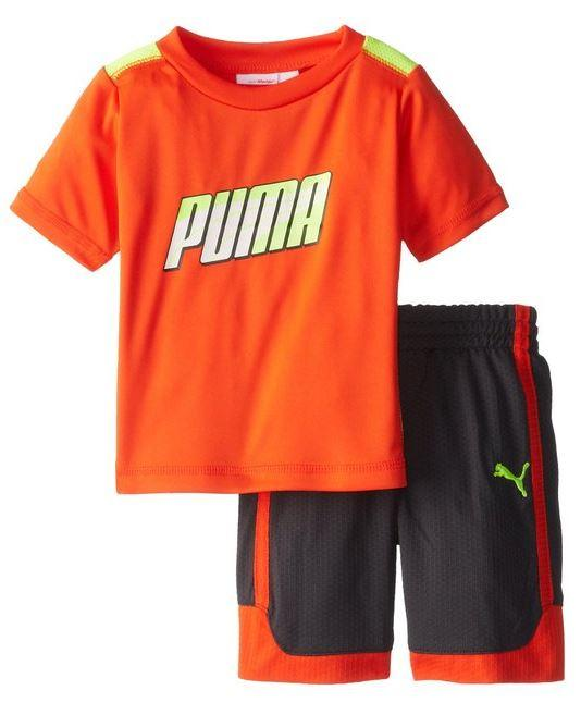 Formstripe Slider Active Top /& Pants Little Boys Toddler 2T-4T PUMA 2 Pc