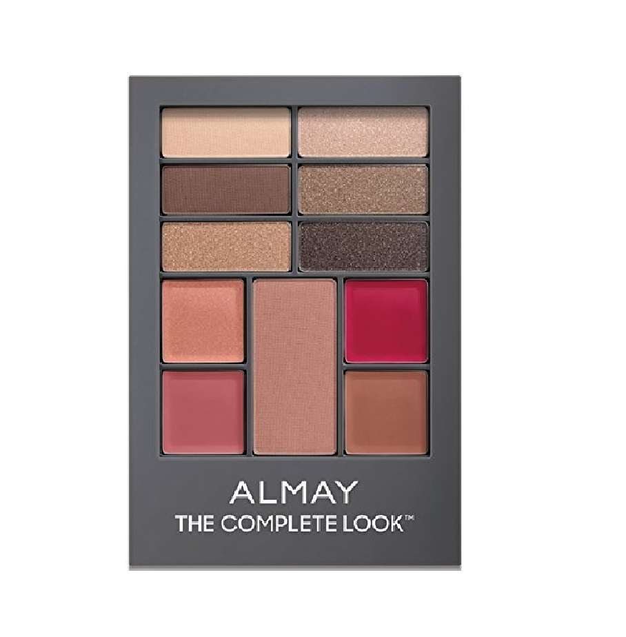 Almay The Complete Look Palette, Makeup for Eyes, Lips and Cheeks #200 Medium Skin Tones + FREE Eyebrow Trimmer