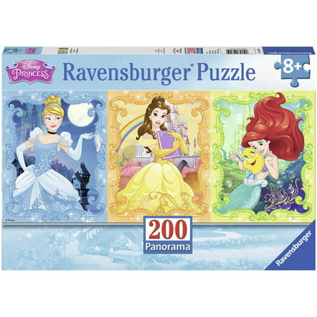 Beautiful Disney Princesses Panoramic Puzzle, 200 Pieces