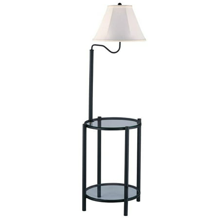 Mainstays Transitional Glass End Table Lamp, Matte (Floor Lamp With Table)