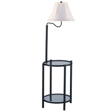 Dome Glass Table Lamp (Mainstays Transitional Glass End Table Lamp, Matte Black )