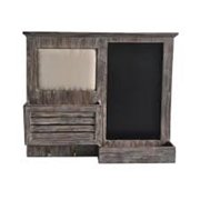Cheungs FP-4119 Wooden Wall With Pin And Chalkboard