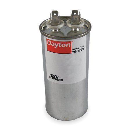 Dayton Round Motor Run Capacitor, 40 Microfarad Rating, 370VAC Voltage - - Capacitor Voltage Rating