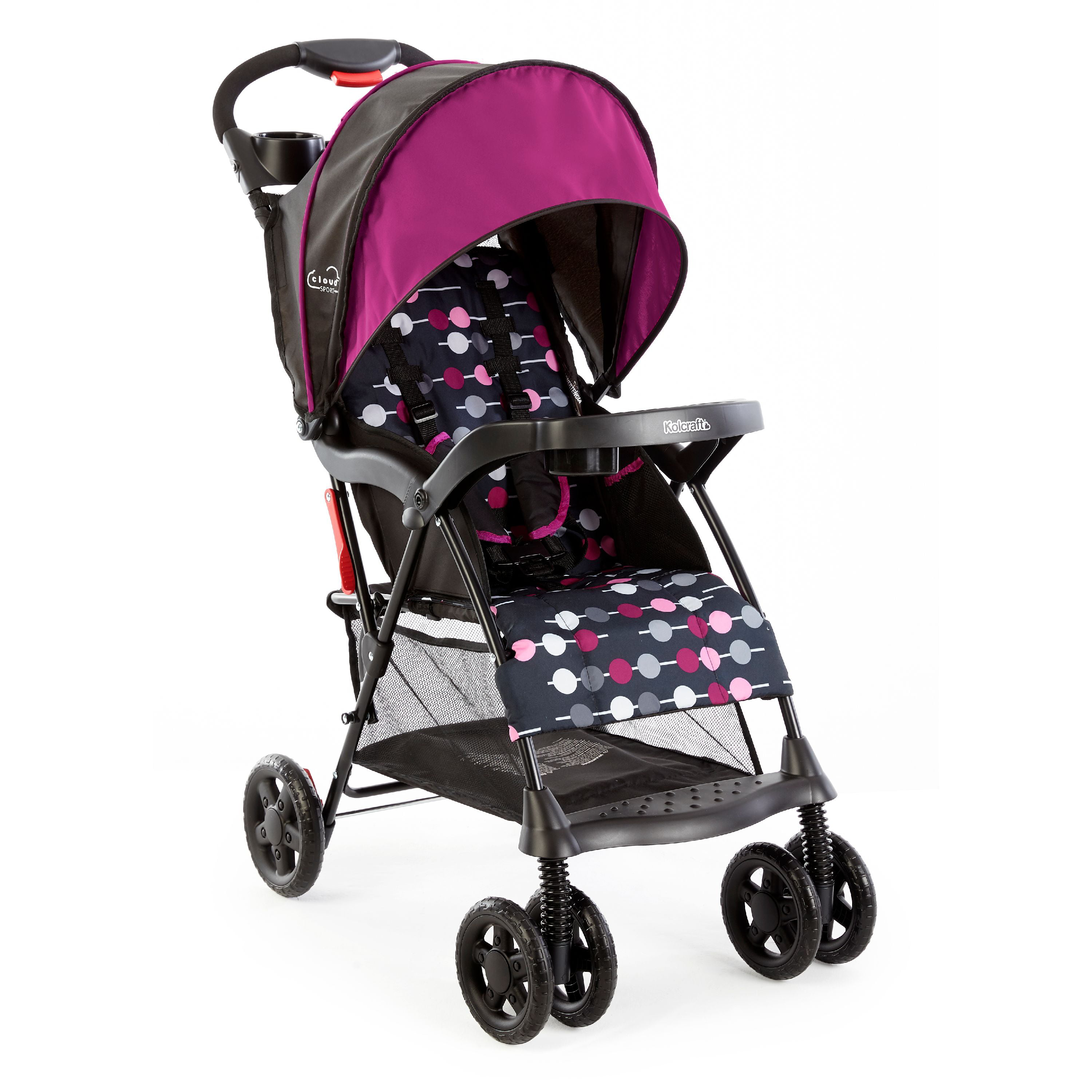 Kolcraft Cloud Sport Lightweight Stroller, Berry by Kolcraft