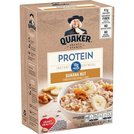Quaker Select Starts Instant Oatmeal, Banana Nut, 6