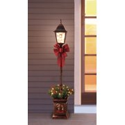 product image holiday time pre lit 4 christmas lamp post tree clear lights
