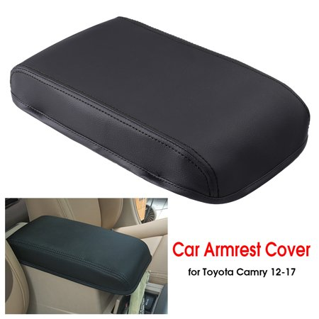 Car Arm Rest Center Armrest Box Cover Leather 30x19x4.5cm For Toyota Camry