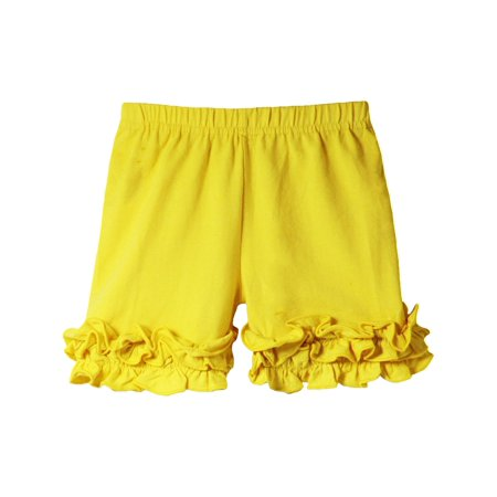 Girls Boutique (Girls Yellow Elastic Waist Ruffle Bottom Icing Boutique)