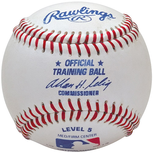 Rawlings Official Training Baseball, Level 5, Ages 7-10, 1 Single Baseball by Rawlings