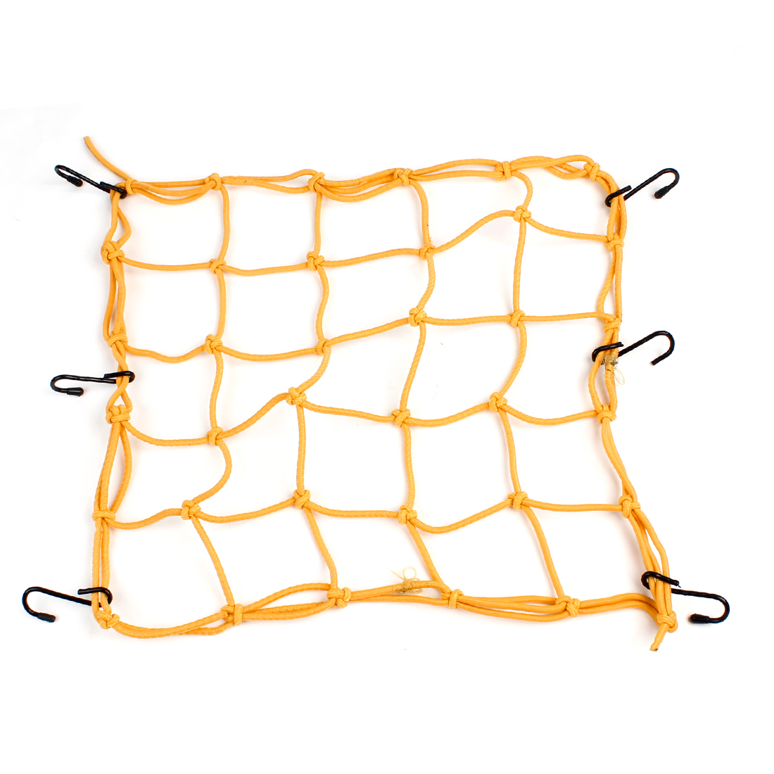 Unique Bargains Universal Stretchy 6 Hook Motorcycle Car Cargo Package Flexible Net Yellow
