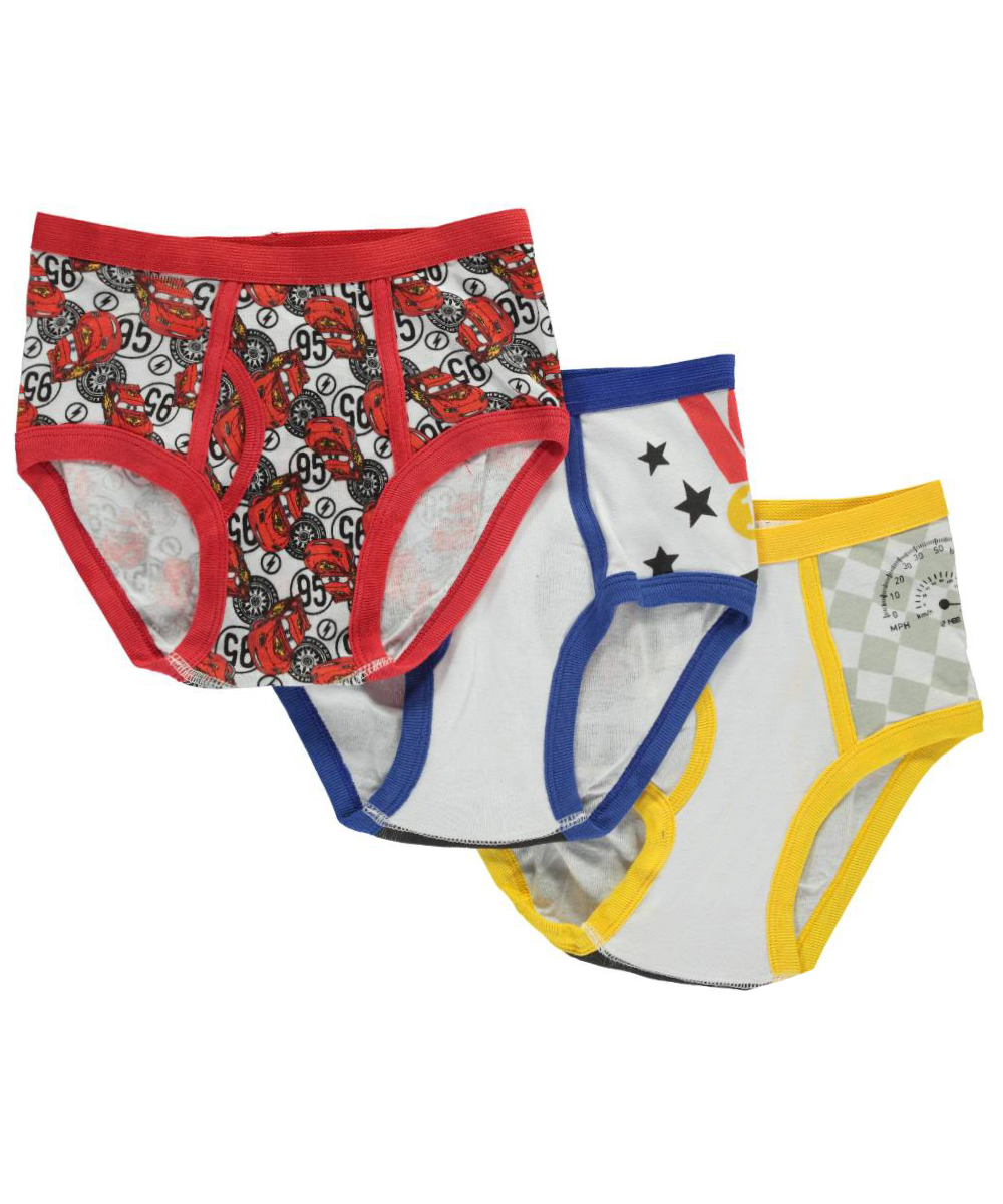 "Disney Cars Big Boys' ""Badge Medley"" 3-Pack Briefs (Sizes 8 - 20)"