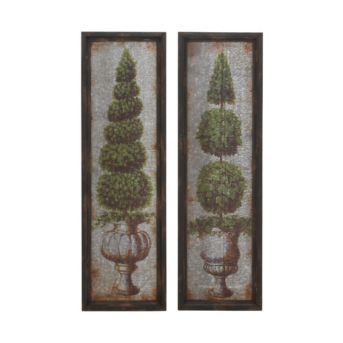 Woodland Imports 2 Piece Framed Painting Print Set by Benzara Inc