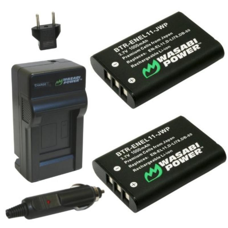 Wasabi Power Battery and Charger Kit for Nikon EN-EL11 an...
