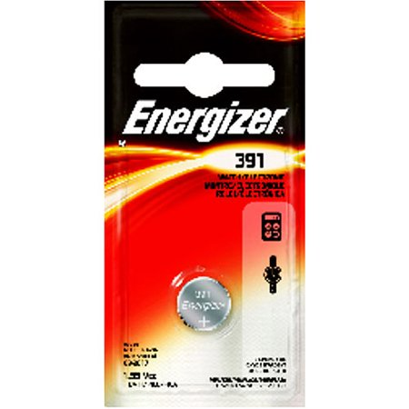 Energizer 03771 391 1.55 Volt Button Cell Watch   Calculator Battery (391BP) by