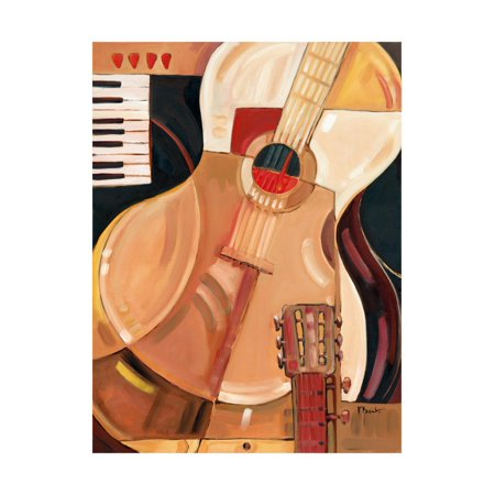Abstract Guitar Print Wall Art By Paul Brent