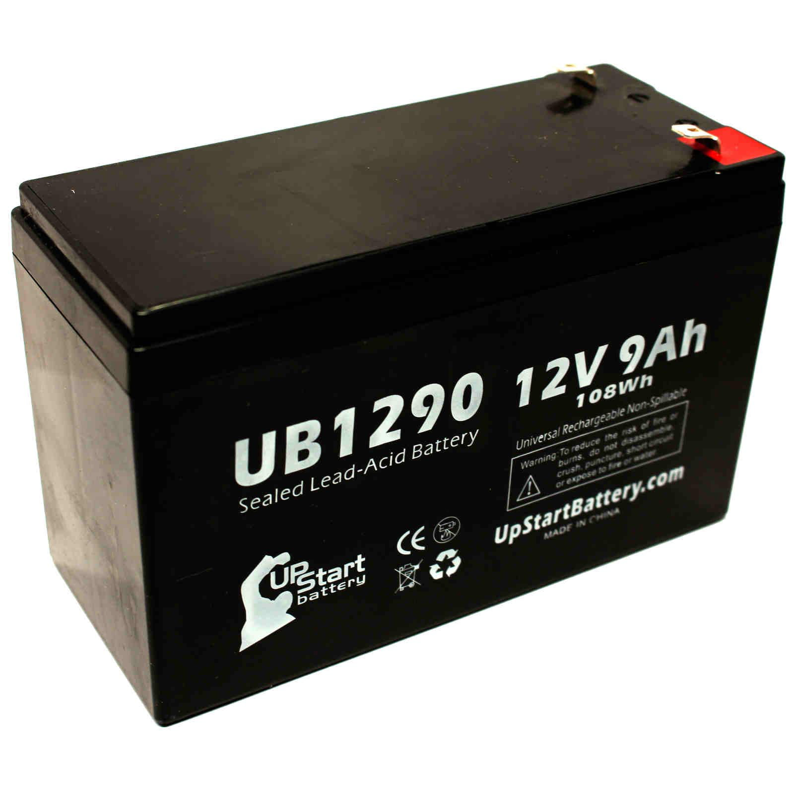 Telesys Db127 Battery Replacement Ub1290 Universal Sealed Lead 12volt Dc Power Plug Optronics Accessories And Parts A Acid 12v 9ah 9000mah F1 Terminal Agm Sla Includes Two To F2