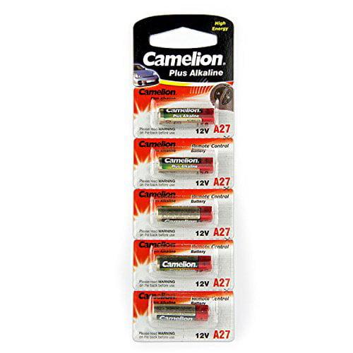 Camelion A27 Alkaline Battery 12V. 5Pc-Pack (A27-BP5)
