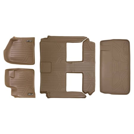 Maxliner 2008-2019 Dodge Caravan 2008-2016 Chrysler Town & Country Floor Mats 3 Row Set Maxtray Cargo Liner Behind 3rd Row Tan A1046/B1046/D1046