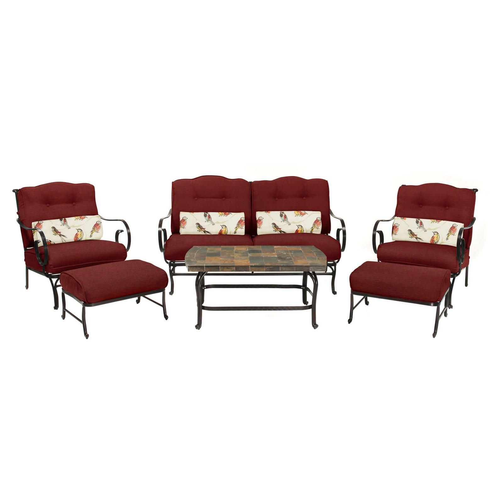 6-Piece Patio Set with Stone-Top Coffee Table