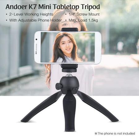 Mini Tabletop Tripod 2-Level Adjustable Working Heights 1/4 - image 5 of 7