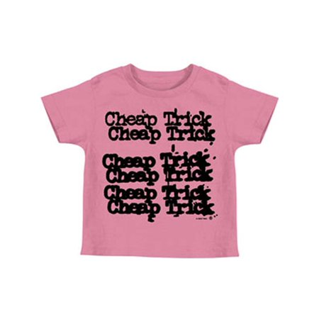Cheap Trick Boys' Stacked Logo Childrens T-shirt Pink