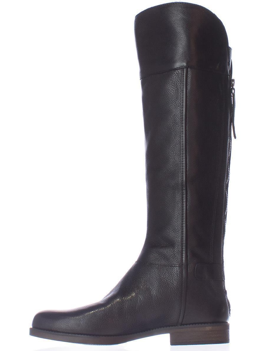 Franco Sarto Womens Christine Leather Closed Toe Knee High Riding Boots