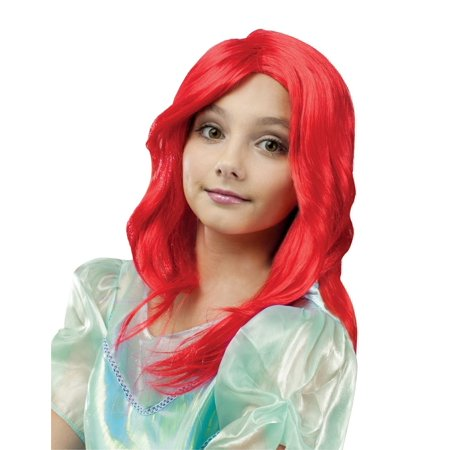 Child Pretty Princess Mermaid Snow Beauty Time Princess Wig Costume Accessory](Red Wig For Kids)