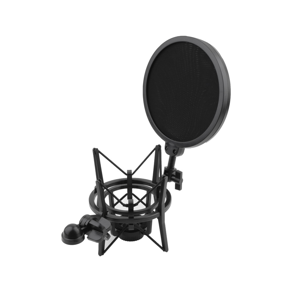 Plastic Studio Quality Shock Mount 180 Degrees Adjustment Microphone Shock Mount Stand... by