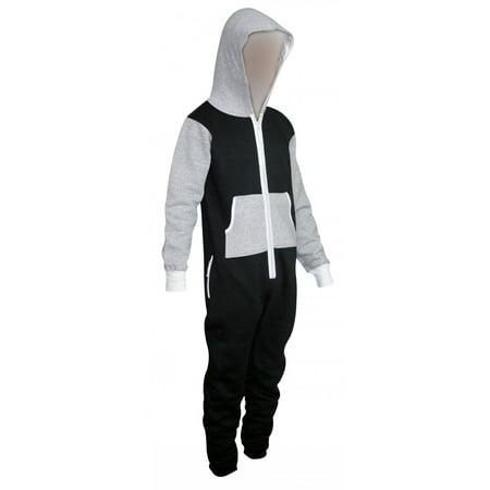 skylinewears men's onesie playsuit unisex jumpsuit gray small - Mans Onesie