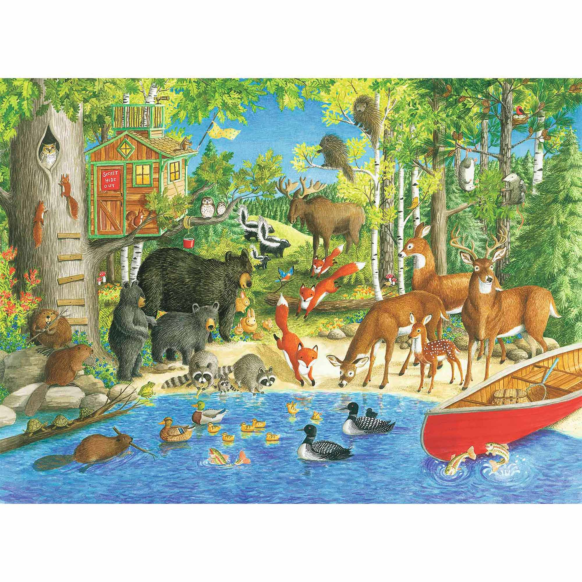 Woodland Friends Puzzle, 200 Pieces by Ravensburger