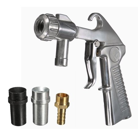 Sandblaster Air Siphon Sand Blasting Feed Blast Gun Sandblasting With Metal Nozzle Tips (Best Sand For Sandblasting)