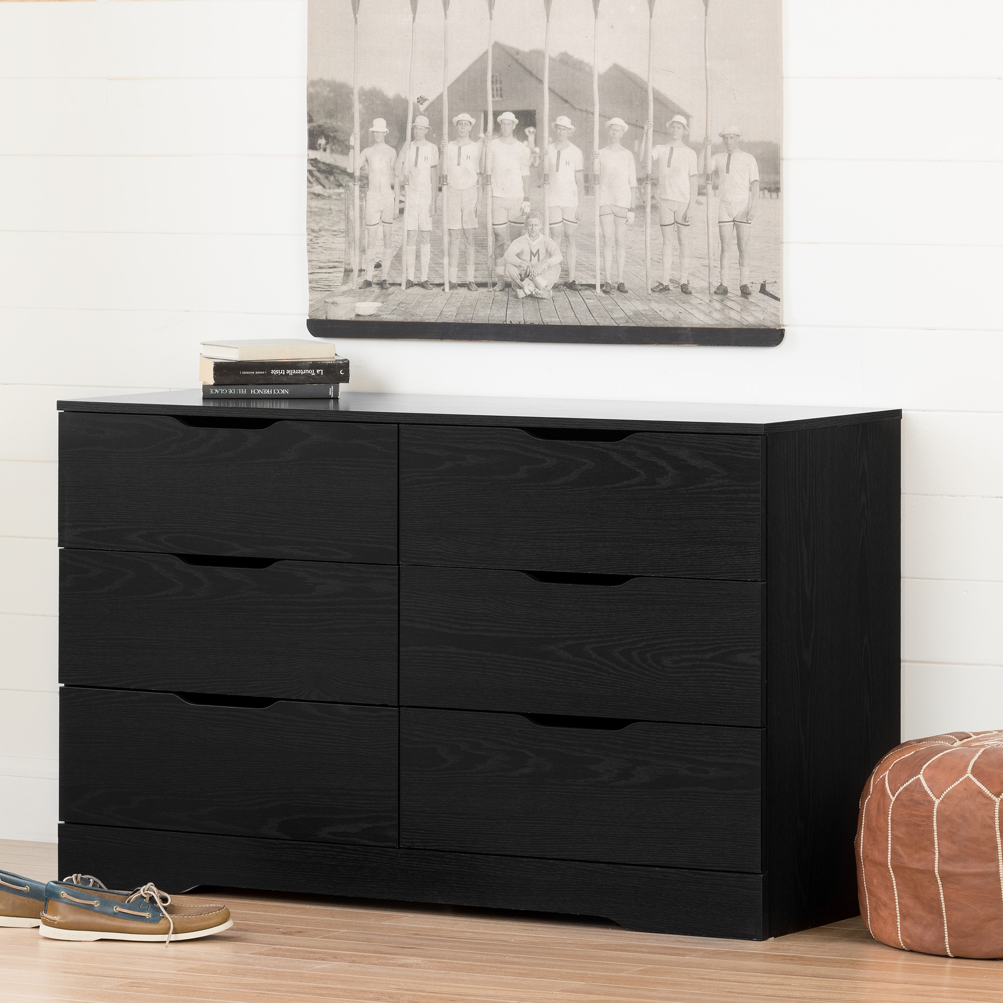South Shore Holland 6-Drawer Double Dresser, Multiple Finishes
