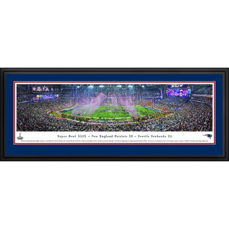 Super Bowl 2015 New England Patriots Champions Blakeway Panoramas NFL Print with Deluxe Frame and Double Mat by